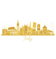 italy city skyline golden silhouette with vector image