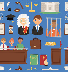 law justice judgement of vector image