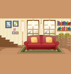 Living room background scene vector