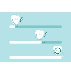 Loading to dental vector image