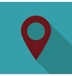 Location icon flat vector