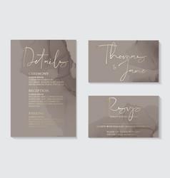 luxury soft decor dark grey wedding invitation vector image