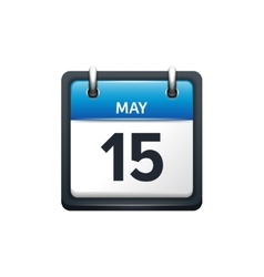 May 15 Calendar icon flat vector