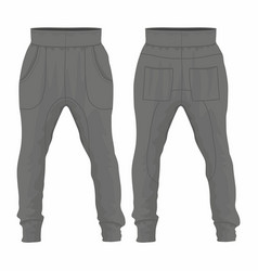 Mens black sweatpants vector