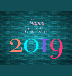 new 2019 year paper perfect vector image