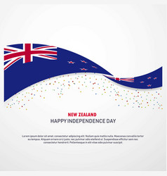 New zealand happy independence day background vector