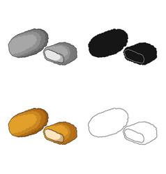 Nugget single icon in cartoon stylenugget vector