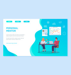 personal mentor experienced professionals help in vector image
