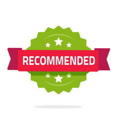 recommended rosette icon flat cartoon vector image