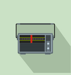 red line radio icon flat style vector image