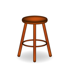 Retro stool in brown design vector