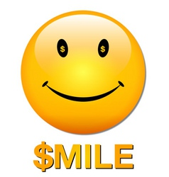 Rich smiley vector