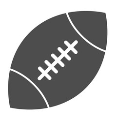 rugby ball solid icon american football ball vector image