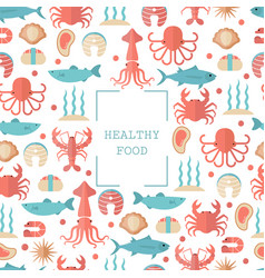 sea food concept sea food concept vector image