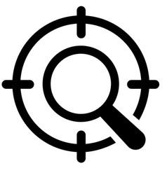 Seo targeting icon vector