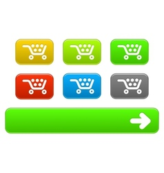 set basket buttons vector image