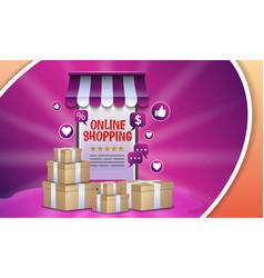shopping online design concept vector image
