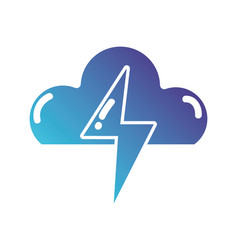 silhouette cloud with thunder natural weather vector image