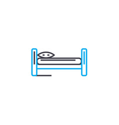 single bed linear icon concept single bed line vector image