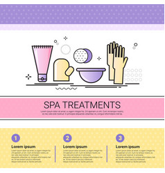 spa treatment cosmetology infographics salon vector image