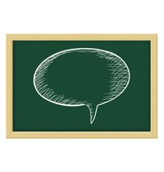 speech bubble sketch on chalkboard background vector image