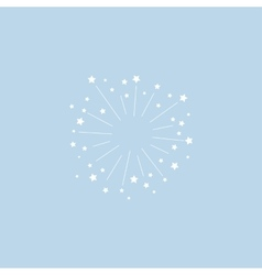 Star explosion minimal style design vector