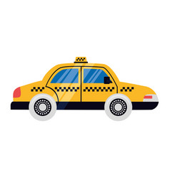 taxi car vehicle vector image
