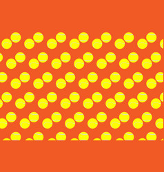 tennis ball on orange background vector image