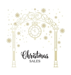 The christmas sales card vector