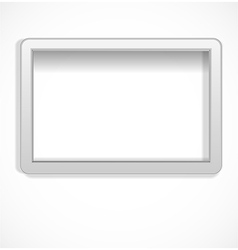 White empty frame vector