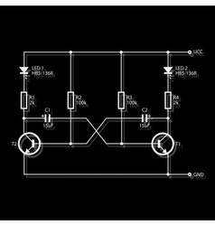 wiring diagram for electronics eps10 vector image