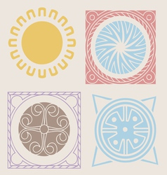 indian spring elements collection vector image