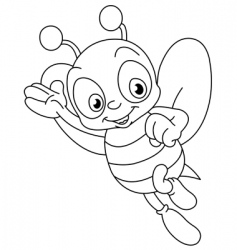 outlined bee vector image