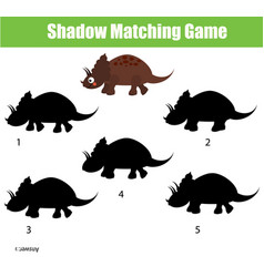 Shadow matching game educational children game vector