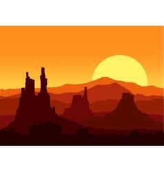 Sunset in the Rocky Mountains vector image vector image
