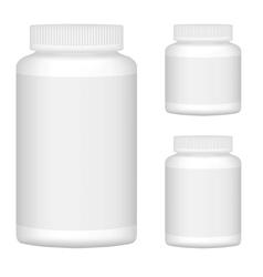 White Blank Plastic Bottle Set For Packaging vector image vector image
