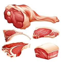Beef set vector image vector image