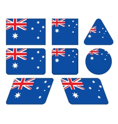 buttons with flag of Australia vector image vector image