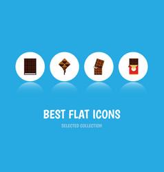 Flat icon bitter set of wrapper dessert vector