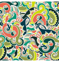 Gorgeous colorful seamless paisley pattern vector image vector image