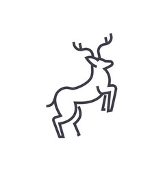 line deer line icon sign vector image vector image