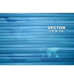 Abstract blue striped tech background vector