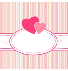 birthday greeting valentine or wedding card with h vector image