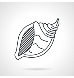 Black line icon for sea shell vector image vector image