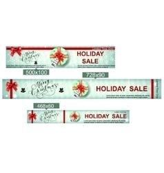 Christmas sale web banners vector image