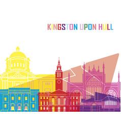 kingston upon hull skyline pop vector image vector image