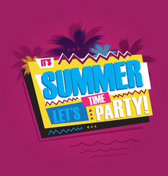summer abstract vintage retro banner sign vector image vector image