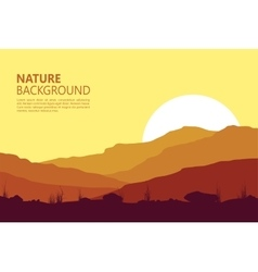 Sunset in the Mountains vector image vector image