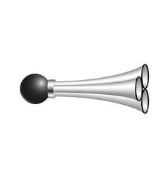 Triple air horn in silver design vector