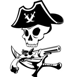 pirate sign vector image